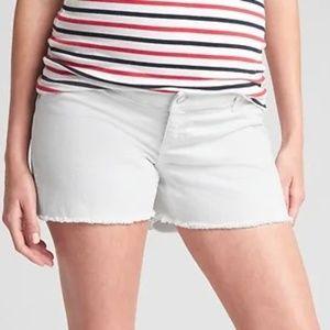 Gap Maternity Shorts, Denim White